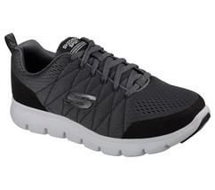 52836 Charcoal Skechers shoe Men Memory Foam Sport Comfort Casual Train ... - $29.99