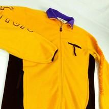 VTG Nautica Competition Yellow Black Zip Front Fleece Jacket Sz L USA Sp... - $39.99