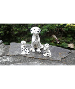 Vintage porcelain dalmatian mother and puppies - $35.75