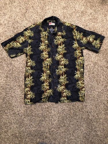 Primary image for The Hawaiian Original Made in Hawaii Men's Button Up Shirt Bamboo Dragon Hilo