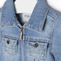Mayoral Baby Girls Tier Ruffle Hem Denim Jean Jacket image 3