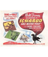 1949 Walt Disney's The Adventures Of Ichabod And Mister Toad > Mini Post... - $1.99