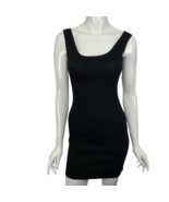 NEW Fashion Nova Black Dress Size Large Bodycon Mini Cotton Blend USA Ma... - $19.99
