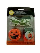 Jack O'Lantern Halloween Cupcake Combo Kit Makes 12 Liners Picks Ghosts Wilton - $6.99