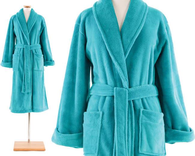Pine Cone Hill Aqua Sheepy Fleece Robe, One Size - $75.00