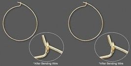 100 GOLD Plated WINE GLASS RINGS / Ear HOOPs 25mm/1 inch diameter - $10.74