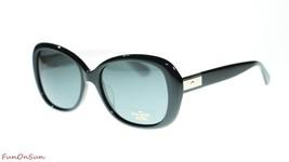 Kate Spade Women Sunglasses Judyann 09HT Black Ivory Grey Polarized Lens 56 - $116.40