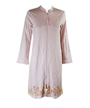 Charter Club 100% Cotton Pink Polka-Dot Robe with Floral Hem, XS - $27.71