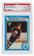 Wayne Gretzky 1979 Topps #18 Edmonton Oilers Hockey Card PSA NM-MT 8(OC) - $8,729.03