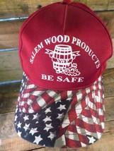 Salem Wood Products Be Safe American Flag Snapback Adjustable Adult Hat Cap - $7.24