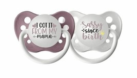 Ulubulu Girl Pacifier Set - I Got It From my Mama & Sassy Since Birth Bi... - $12.99
