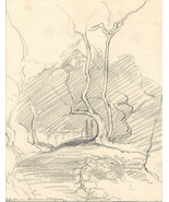 Marcus Adams - Early 20th Century Graphite Drawing, The Curious Stoneway - $32.81