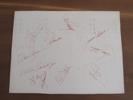 1981 NEW YORK YANKEES TEAM SHEET STEINBRENNER OATES MURCER 11 SIGNED AUT... - $395.99