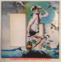 Artist Pretty Girl Ocean Light Switch Power Outlet Wall Cover Plate Home decor image 4