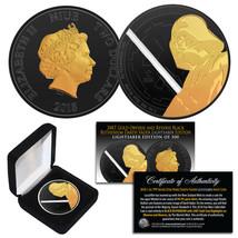 2018 NIUE 1 oz Silver DARTH VADER Star Wars Coin BLACK RUTHENIUM & 2... - $69.25