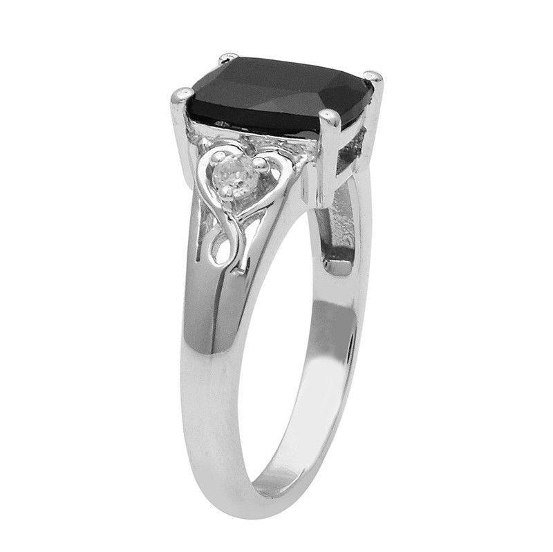 Wonderful Black Spinel 925 Sterling Silver Ring Shine Jewelry Size-7 SHRI1444