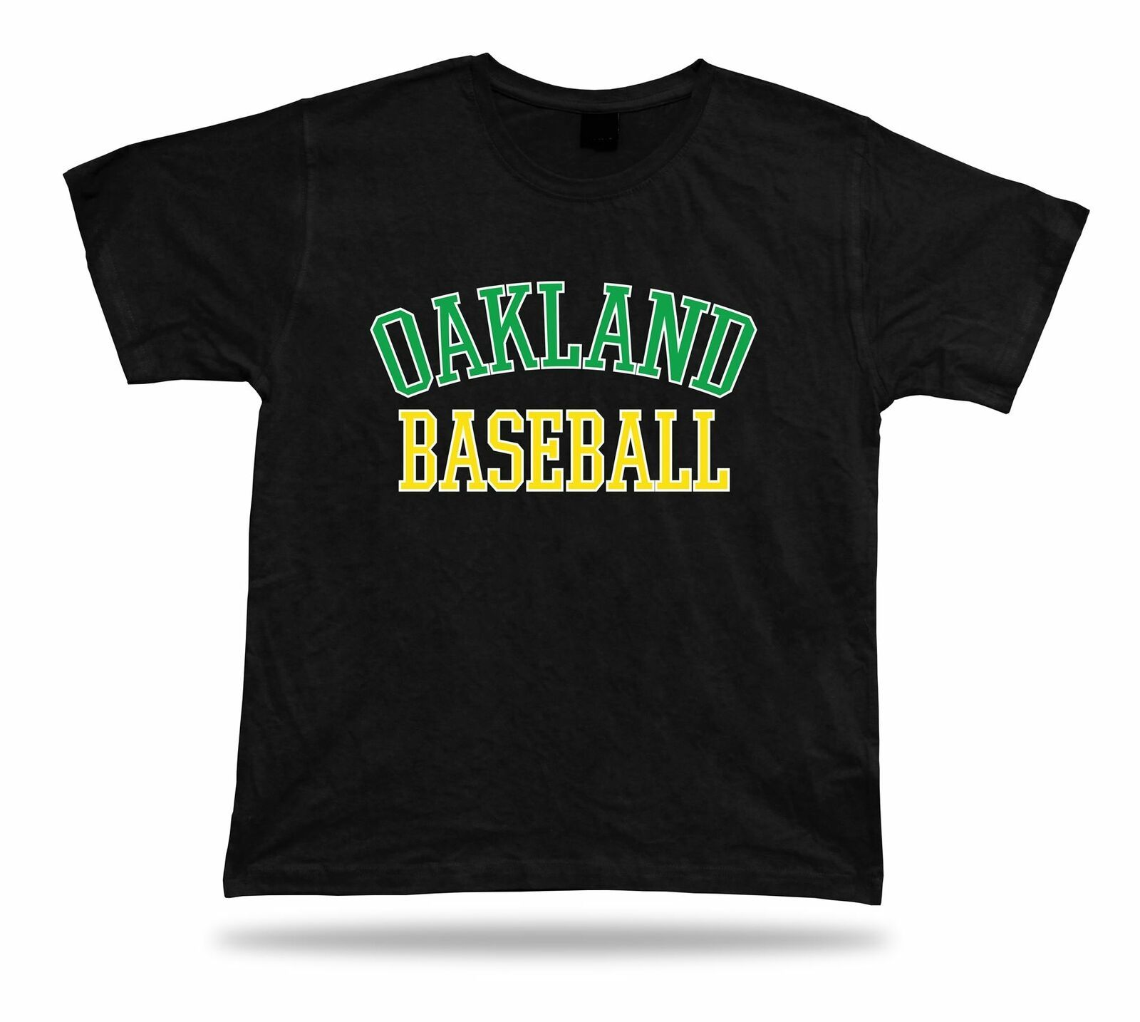 Primary image for Oakland BASEBALL t-shirt tee green white yellow CA USA summer apparel field