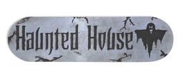 Gothic Horror Scene Sign-HAUNTED HOUSE-Halloween Party Prop Wall Door De... - £4.10 GBP