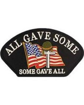 United States All Gave Some, Some gave all Hat Patch NEW!!! - $7.91