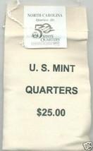 2001-D State Quarter-North Carolina- $25 MINT SEWN BAG - $41.95