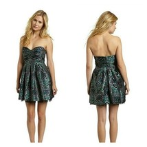 BCBG MAX AZRIA Strapless Mini Dress Tide Combo Animal Floral Print sz 8 - $40.89