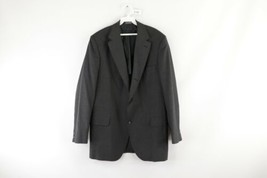Vintage 80s Brooks Brothers Mens 43L 3 Button Pinstriped Suit Coat Jacke... - $24.70