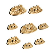Spaghetti and Meatballs Italian Pasta Wood Buttons for Sewing Knitting C... - $9.99