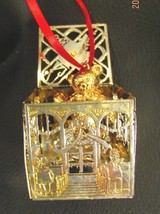 """Lunt Silver & Gold Teddy Bear  """"Bobble"""" Christmas/Holiday Ornament - $14.84"""