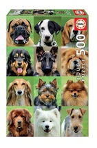 """NEW Educa Jigsaw Puzzle Game 500 Pieces Tiles """"Dogs Collage"""" - $29.89"""