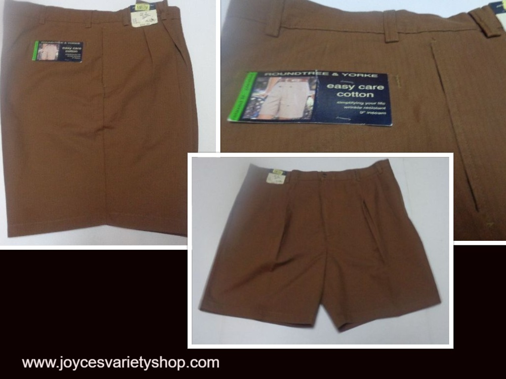 Roundtree   yorke mens shorts brown pinstriped 44 web collage