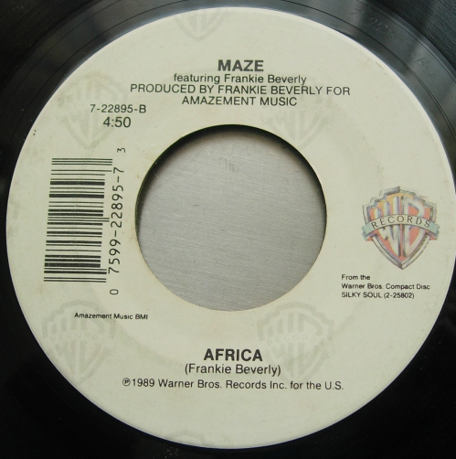 Maze - Can't Get Over You / Africa - WB Records 7-22895