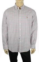 New Mens Ralph Lauren Slim Fit Long Sleeve White Plaid Stretch Oxford Shirt Xs - $41.99