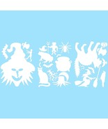 LiteMark White Witch Pack Assorted Halloween Decorations Decal Stickers ... - $16.95