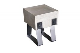 VIG Modrest Cope Dark Grey Concrete Black Metal Legs Stool (Set of 2) - $336.00