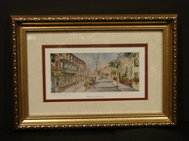 Marilyn Morris Signed, Framed  Litho Charleston's Church Street - $21.00