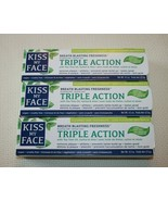 Kiss My Face Triple Action Toothpaste Gel Fluoride Free Cool Mint 4.5 oz... - $28.05