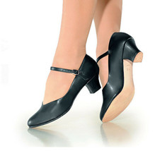 So Danca CH50 Women's Size 6.5M (Fits Size 6) Black Character Shoe - $29.99