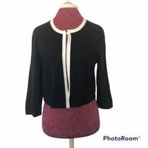 Talbots Dark Navy Blue Single Hook Shrug Cardigan Sweater Size M NWT - $22.81