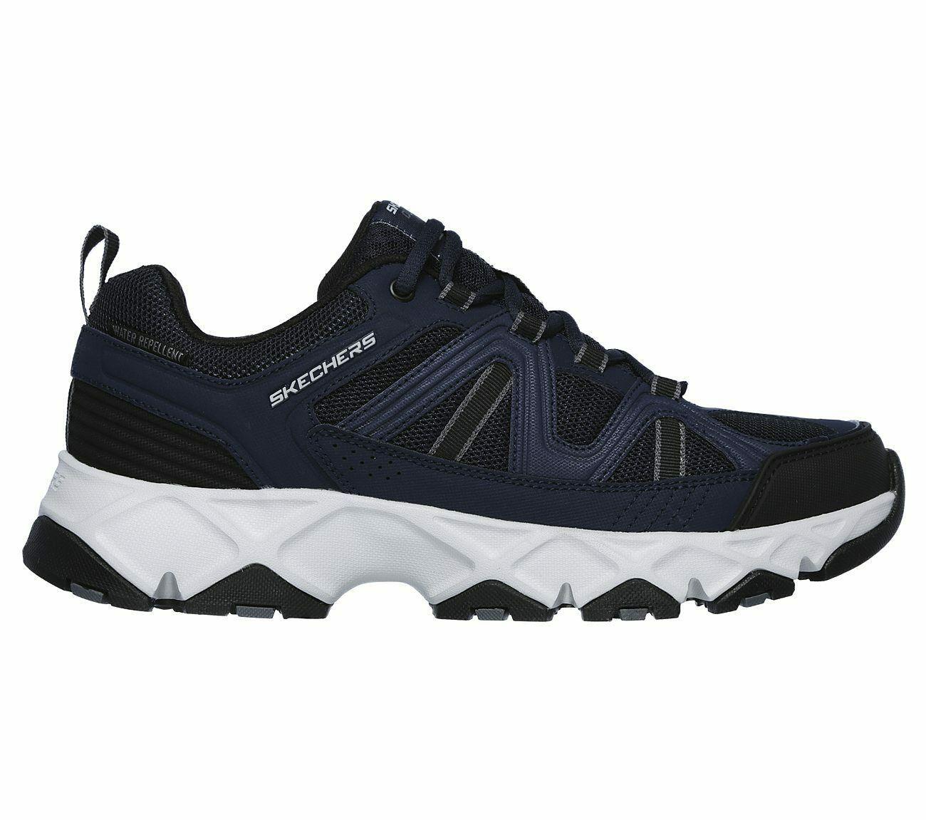 Skechers Navy Black Extra Wide Fit Shoe Men Memory Foam Sport Comfort Soft 51885 image 2