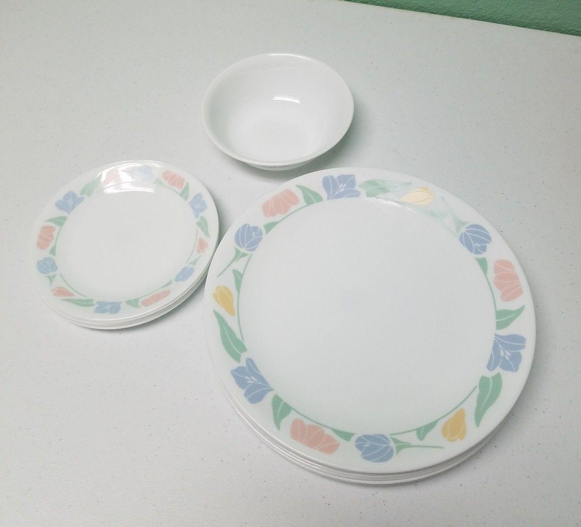 Corelle By Corning Dinnerware Set Vintage usa AH & Corelle By Corning Dinnerware Set Vintage and 50 similar items