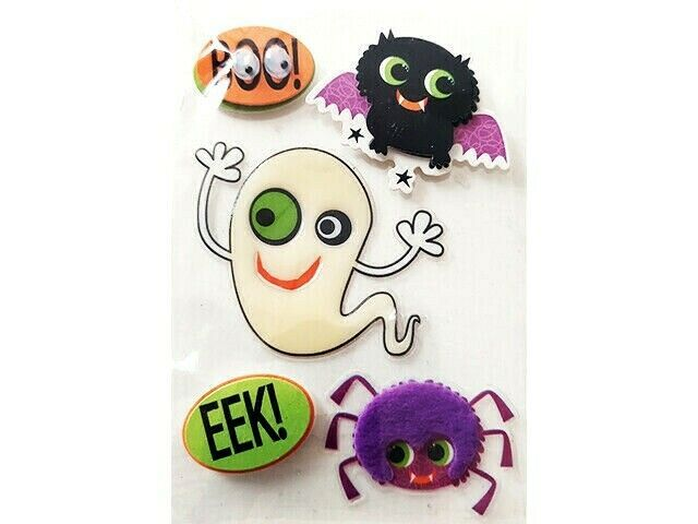 Cute Dimensional & Epoxy Halloween Stickers, Set of 5