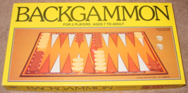 BACKGAMMON GAME 1981 WHITMAN WHITMAN COMPLETE EXCELLENT UNPLAYED CONDITI... - $10.00