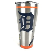 Tervis Detroit Tigers Stainless Steel Tumbler 30 OZ Silver Travel Mug Ba... - $24.70