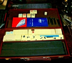 Complete RUMMY-O Tile Game By Cardinal Carry Case Right Colors Yellow Racks Etc. - $31.36