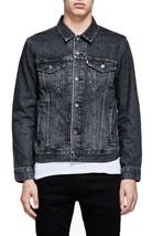 Levi's Men's Cotton Button Up Denim Jeans Trucker Jacket Black 723340305
