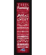 "Stony Brook University ""Seawolves""- 24 x 8 Family Cheer Framed Print - $39.95"