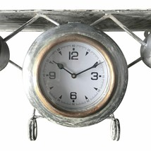 """Handcrafted Airplane Wall Clock - Distressed Gray - 31"""" Wingspan - $405.90"""