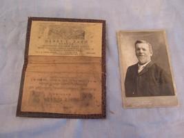 Vtg Leather Steamship Ticket Agency Passport Holder Advertising German E... - $54.49