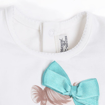Mayoral Baby Girl 3M-24M Doll Applique Knit Top/Tee, Aquamarine image 3
