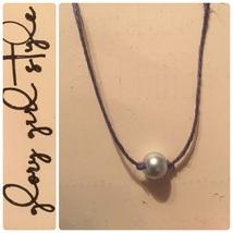 Hemp Cord & Imitation Pearl Choker - $15.00